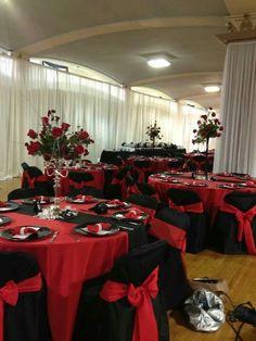 Red black pearls Wedding