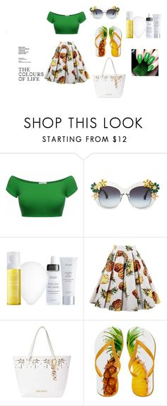 """""""Pineapple"""" by nikus10030 on Polyvore featuring Julep and Betsey Johnson"""