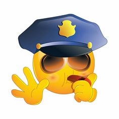 This high-quality Police Stop emoticon will look stunning when you use it in your email or forum. Love Smiley, Emoji Love, Cute Emoji, Emoji Images, Emoji Pictures, Funny Emoticons, Funny Emoji, Smiley Emoji, Emoji Symbols