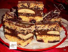 Rumos meggyes,csokis krémes szelet Tiramisu, Oreo, Hamburger, French Toast, Good Food, Food And Drink, Sweets, Cookies, Baking