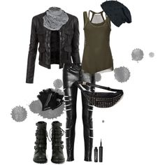 """""""For traversing a post-apocalyptic wasteland"""" by manicpixiedeathbitch on Polyvore"""