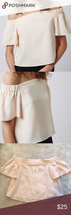 TOPSHOP Livi Bardot Off Shoulder Cream Top Blouse Brand new with tags! Fits true to size. Super cute and great for summertime. I bought this off of Posh but have too many off-shoulder stuff now. :) Topshop Tops Blouses