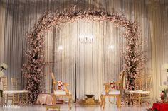 The floral and decor at the Indian wedding ceremony!