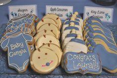 Cute baby shower cookies! #babyshower #cookies