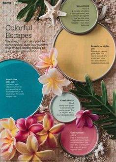 Colorful Escapes - from BH&G Feb 2013