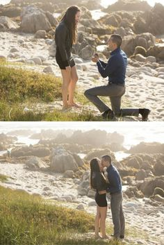 She thought the beach proposal was for someone else until he got on one knee! It was the perfect surprise, and their love story is the sweetest.
