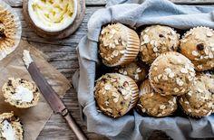 Spiced Zucchini & Honey Muffins