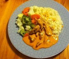 Hähnchengeschnetzeltes mit Tomaten-Käse-Sauce, Gemüse und Reis (WW) by iluep on www.rezeptwelt.de