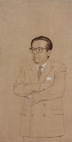 Miguel Herrero y Rodríguez de Miñon, Políptico de los Padres de la Constitución de 1978, (2008-2009) Toned Paper, Old Master, Paintings, Portrait, Drawings, Brunettes, Portraits, History, Artists