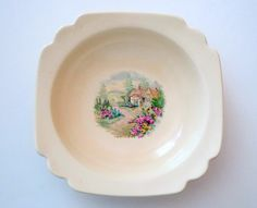 5 Vintage Homer Laughlin Bread and Butter Plate Riviera Country Cottage Ivory Cream 1930's by treasurecoveally on Etsy