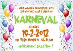 Výsledek obrázku pro plakát na dětský karneval