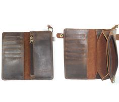 GENUINE LEATHER WALLET by Neo Handmade Leather Bags. To keep work receipts and rewards cards organized.
