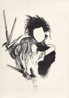 Edward Scissorhands - Tim Burton. Beautiful, beautiful, beautiful film. This would make a cool tattoo!!