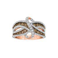 Kallati 1 1/2 ct. tw. White and cocoa diamond® Ring in 14K Rose Gold