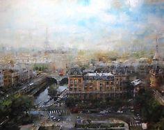 Mark Lague  Over Paris - Oil