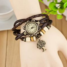reloj vintage women leather band Quartz Bracelet Watch women Lady Wrist Watch luxury Dress Watches mujeres
