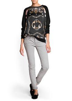 Jeans super slim grises