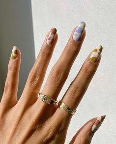 Nagellack Design, Nagellack Trends, Stylish Nails, Trendy Nails, Cute Short Nails, Short Nails Art, Manicure Gel, Pedicure, Cow Nails