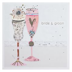 Buy Black Olive A Special Toast Wedding Card Online at johnlewis.com by Anna Victoria