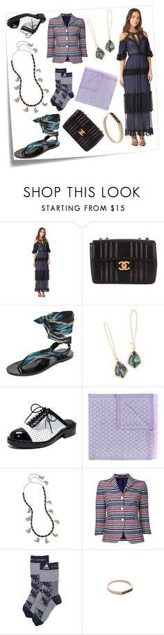 """""""Always has been"""" by emmamegan-5678 ❤ liked on Polyvore featuring Post-It, Notte by Marchesa, Chanel, Nupié, Kendra Scott, Jeffrey Campbell, Gucci, Tagliatore, adidas and Nora Kogan"""