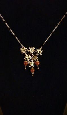 Handmade filigree necklace by SophiaEmmeline on Etsy, $18.00
