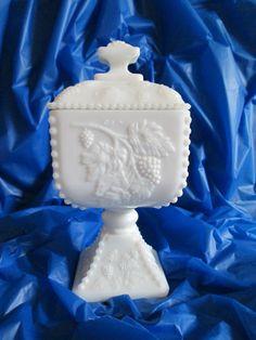 Westmoreland Milk Glass Pedestal Candy Dish by MemoriesVintage, $16.00