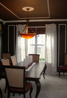 faux tray ceiling designs | dining room tray ceiling after stencil