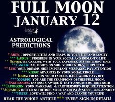 Magical Recipies Online   Complete Astrological Forecast for Every Zodiac Sign. Full Moon in Cancer, Predictions: Full Moon, Thursday January 12th, 2017
