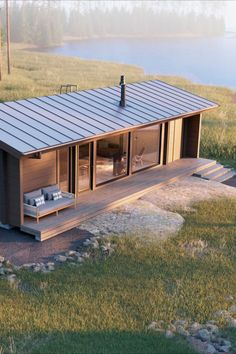 Building A Container Home, Container House Design, Tiny House Design, Shed Homes, Log Homes, Building Design, Building A House, Building Windows, Prefab Cottages