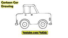 How to draw a CARTOON CAR easy  Cartoon Car from YoKidz  #YoKidz #Drawing #PencilDrawing #Generaldrawing #Like4like #Likeforlike #Share4share #Shareforshare #Draw #Blackandwhite #CartoonCar #DrawCartoonCar #Car #DrawCar