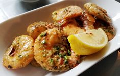 Garlic shrimp app at Postal Fish Company in Pittsboro - #nctriangledining #seafood #ncrestaurantreview #ncfood #ncrestaurant  #nceats #pittsboro #pittsboronc #pittsborofood #pittsbororestaurant #pittsboroeats