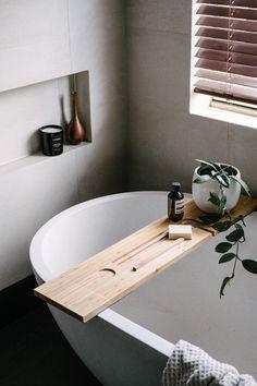 Winthrop Residence: Earthy luxe bathroom with stone freestanding bath Earthy Bathroom, Minimal Bathroom, Beige Bathroom, Bathroom Colors, Bathroom Styling, Bathroom Interior Design, Bathroom Caddy, Rental Bathroom, Bathroom Spa