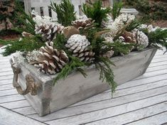 35 Fancy Outdoor Holiday Planter Ideas To Enliven Your Christmas Day - GoodNewsArchitecture After Christmas, Christmas Home, Christmas Wreaths, Cottage Christmas, Christmas Hacks, Rustic Winter Decor, Winter Home Decor, Outdoor Christmas Decorations, Holiday Decor