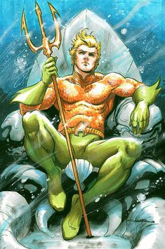 Aquaman (Arthur Curry) by Yildiray Cinar * Justice League of America DC Comics Ms Marvel, Marvel Comics, Heros Comics, Arte Dc Comics, Bd Comics, Character Drawing, Comic Character, Smallville, Comic Books Art