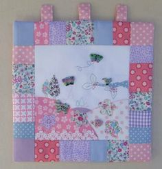 Pretty Patchwork pattern look even better embellished with lovely hand made buttons