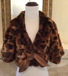 Beth Bowley Coat Anthropologie Women's Sz 4 Faux Fur Animal Print Holiday Jacket | eBay  #anthropologie #fauxfur #bolero #cocktailparty #holiday #christmas #blacktie #party #newyears2015 #bethbowley