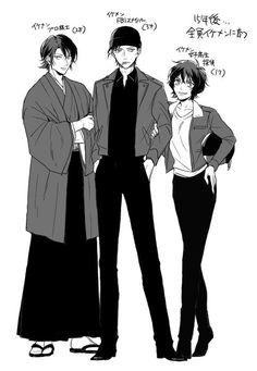 my crimson family ♥♥ Conan Comics, Detektif Conan, Gosho Aoyama, Detective Conan Wallpapers, Amuro Tooru, Kaito Kid, Fan Picture, Kaichou Wa Maid Sama, Magic Kaito