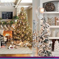 Aunque los colores tradicionales como el verde y el rojo nunca pasaran de moda en Navidad, este año quieres darle a tu decoración navideña un look mas sofisticado y cambiar el esquema de colores, lógralo agregando tonos dorados y plateados los cuales harán resplandecer a tu hogar #TipsLulas Llámanos al tel: 2684641 Medellín Imagen inspiración