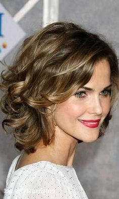 Short Hairstyles for Thick Curly Wavy Hair                                                                                                                                                      More