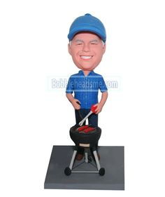 Custom bobbleheads BBQ Male Baking Sausages