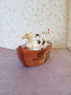 A personal favorite from my Etsy shop https://www.etsy.com/listing/484731761/vintage-noahs-ark-salt-and-pepper