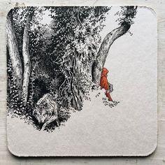 All inspiration in the illustration category Illustration Arte, Gravure Illustration, Ink Illustrations, Sketchbook Inspiration, Art Sketchbook, Fairytale Art, Fairytale Drawings, Art Moderne, Pen Art