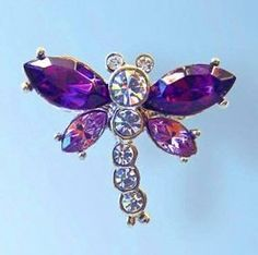 Small diamond-like Swarovski Crystals Lavender Purple Dragonfly Pin Violet Br... Dazzlers. $32.00. Exquisite, limited edition item which is sure to grow in value over time.. Arrives In Padded Presentation Box With Certificate Of Authenticity. 100% Satisfaction Guaranteed Or Your Money Back. Bonded Seller, Stocked On Site, Quick Delivery & Gift Wrapping is optional.. Each pin is hand set with Sparkling Swarovski Crystals & hand enameled.. Save 52% Off!