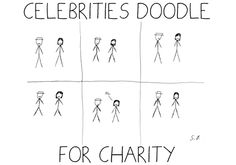 Celebrities Doodle For Charity