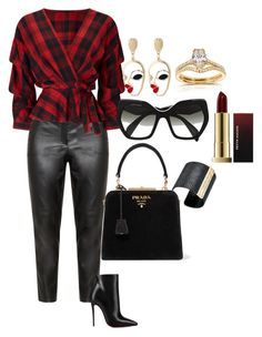 """Caliente "" by crazebybre on Polyvore featuring Samoon, Miss Selfridge, Annello, Christian Louboutin, The Sak and Prada"
