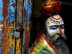 The colours of a Sadhu man.