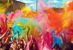 Holi festival has an ancient origin and celebrates the triumph of 'good' over ' bad'. Description from tumblr.com. I searched for this on bing.com/images