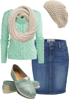 """""""mint & beige"""" by elngad ❤ liked on Polyvore"""