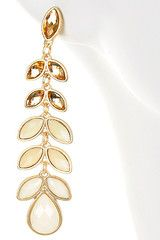 White Leaf Drop Earrings#Repin By:Pinterest++ for iPad#