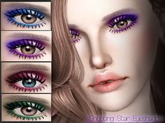 Shooting Star Eyeshadow by WhiteCrowSims - Sims 3 Downloads CC Caboodle